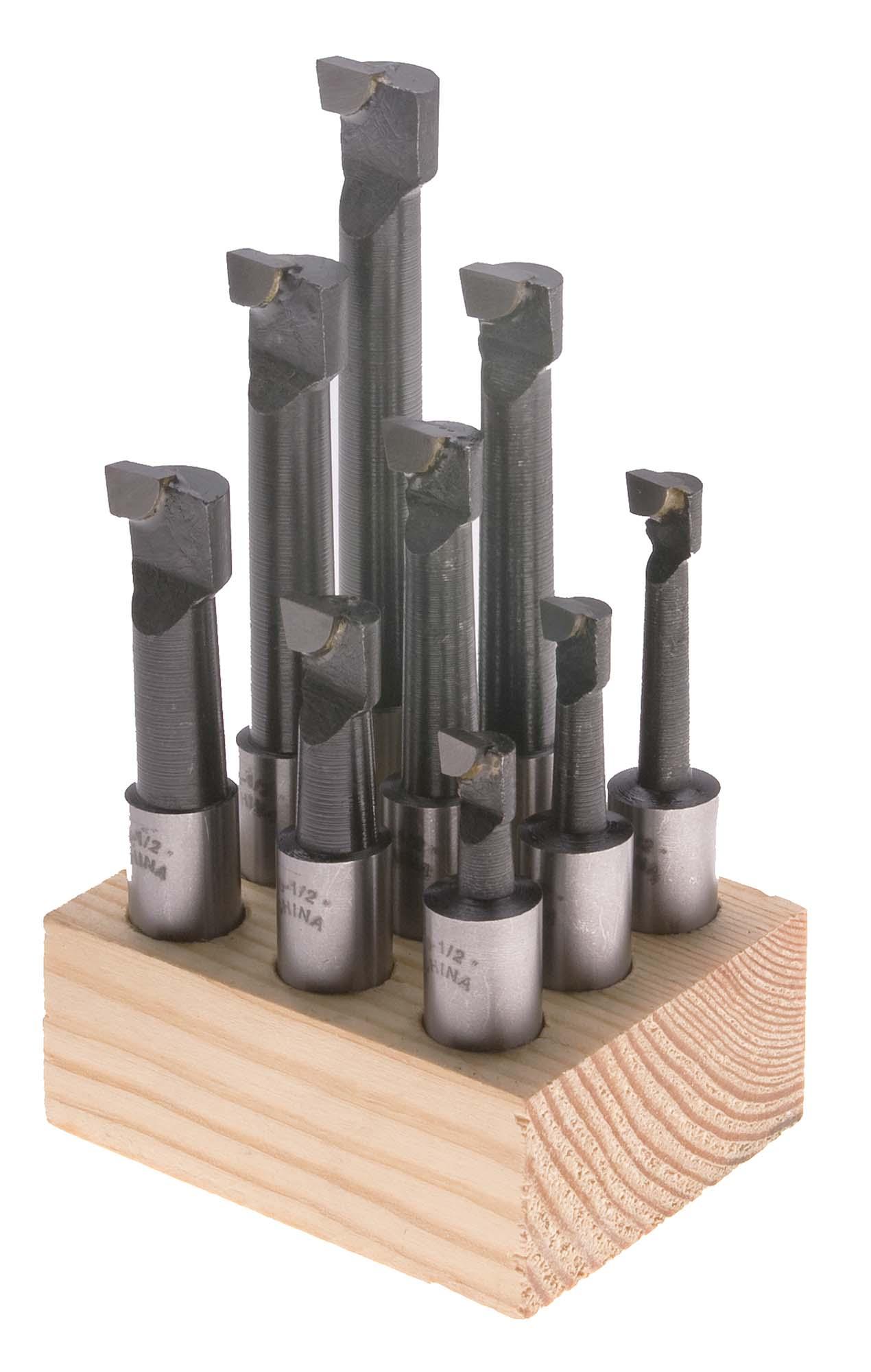 """BBCA-3/4-S  3/4"""" Shank Carbide Tip Boring Bar Set - 12 Piece"""