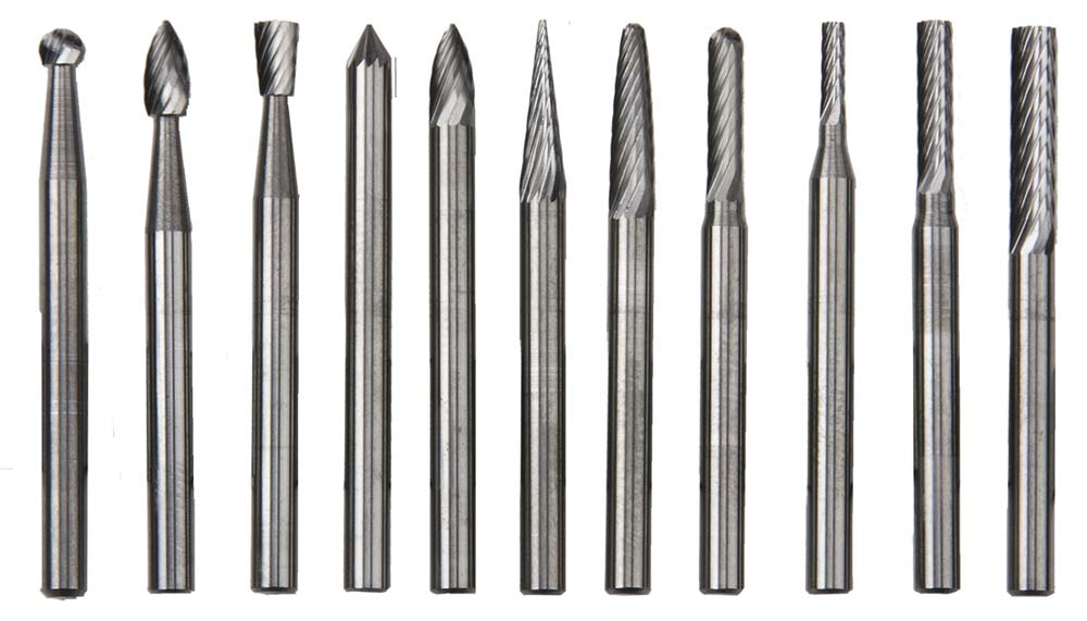 "1/8"" Shank Carbide Burr Set - 11 pieces"