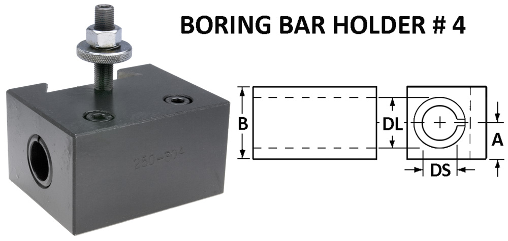 # 4 Boring Bar Holder-300 SERIES