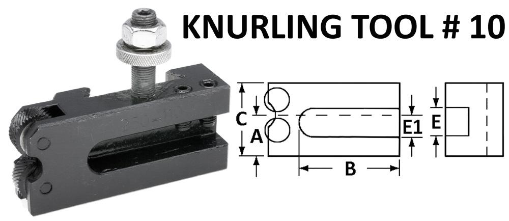 # 10 Knurling Holder-300 SERIES