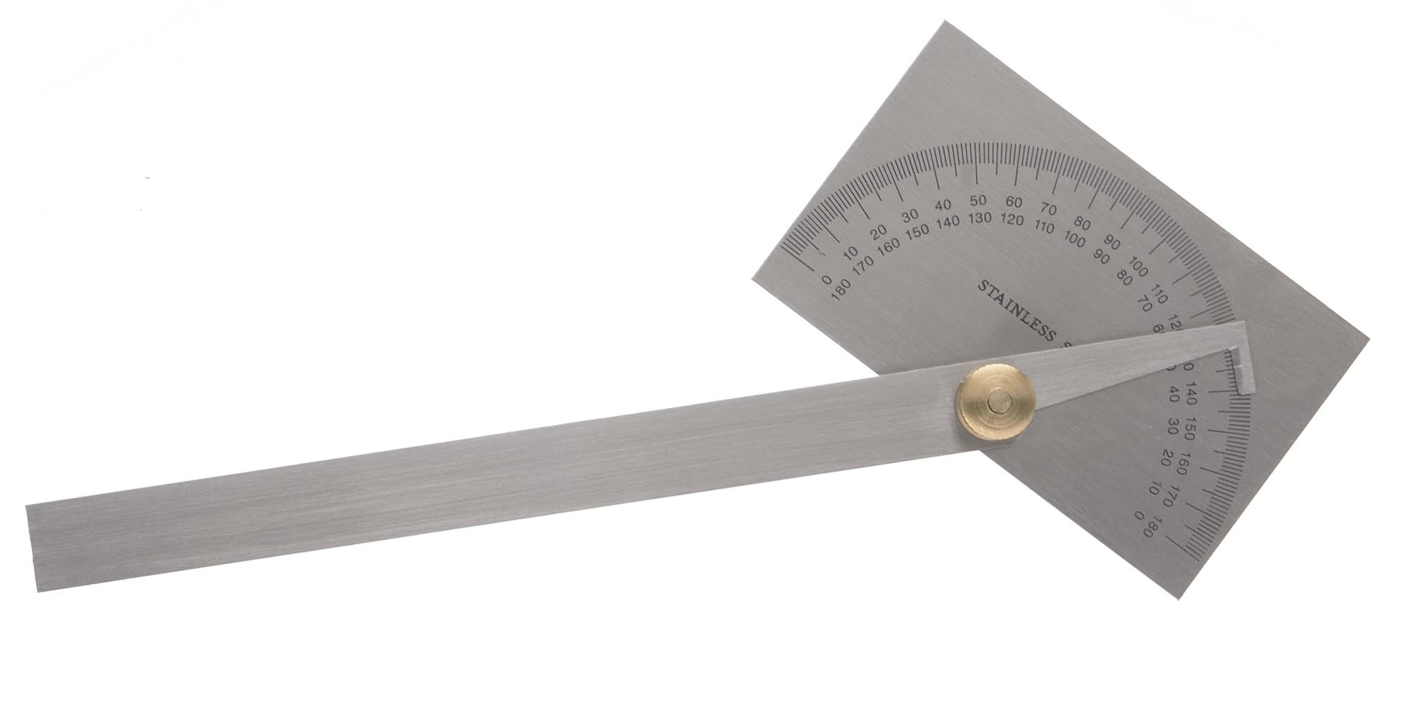 General 17 Square Head Stainless Protractor