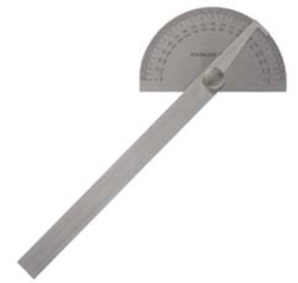 General 18 Round Head Stainless Protractor