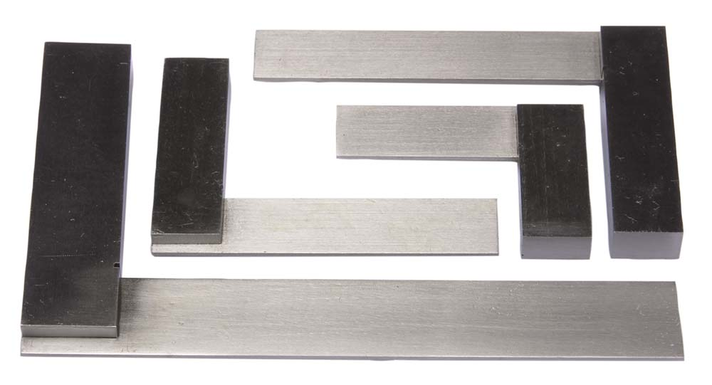 "4 Piece Steel Square Set - 4"",6"",9"",12"""