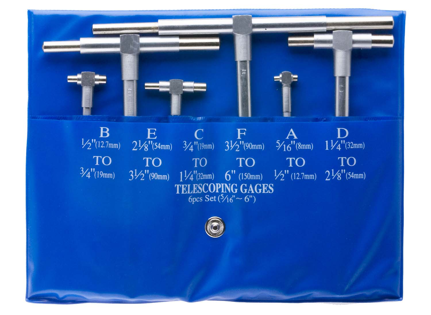 General S98-6 Telescoping Gage Set, 5/16 - 6""