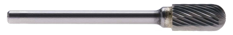 "SC-51 - 1/4"" Head, 1/8"" Shank Single Cut Cylindrical/Ball End Carbide Burr"
