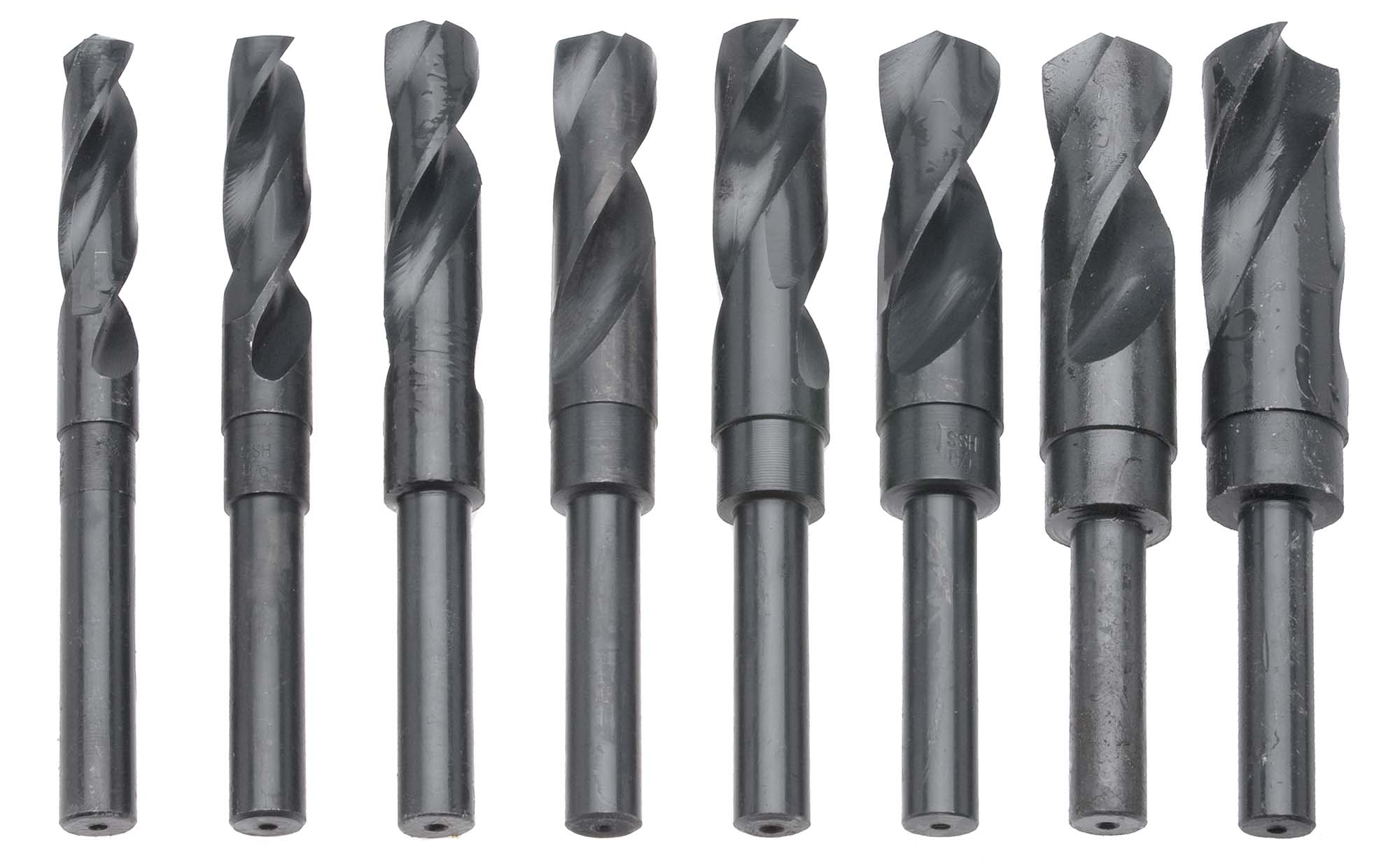 "8 Piece HS S&D Drill Set, 9/16"" to 1"" by 16ths"