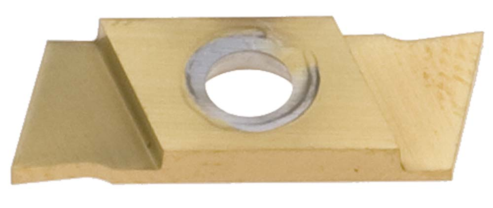 "Nikcole GP-1.0-R-N-TIN .039""/1.0mm TIN Groove+ Cut-Off Insert. Mini grooving system."