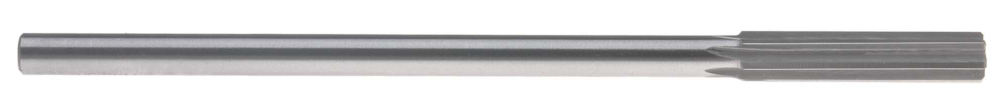 .624 Straight Shank Chucking Reamer, Straight Flute, High Speed Steel