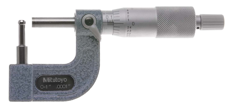 """.314"""" Anvil, 0-1"""" Mitutoyo 115-314 Tubing Micrometer"""