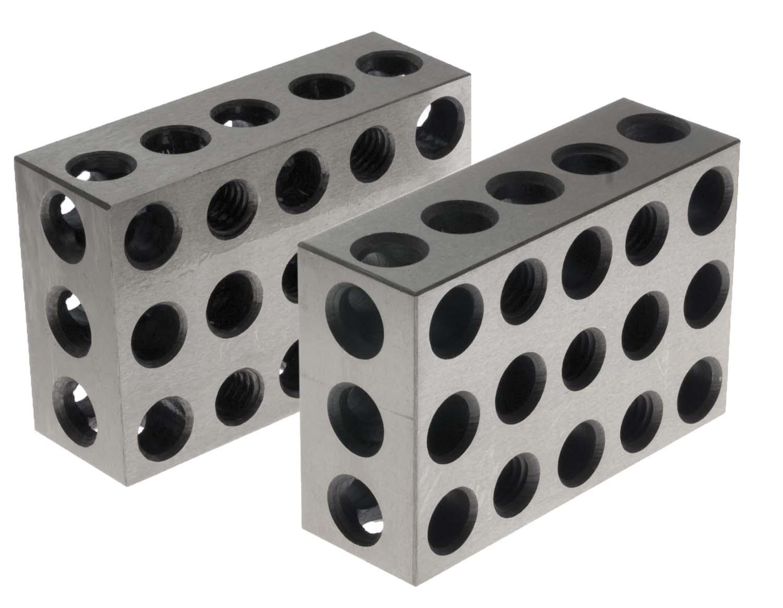 """BL-246  Pair of 2"""" x 4"""" x 6"""" Precision Steel 2-4-6 Blocks"""