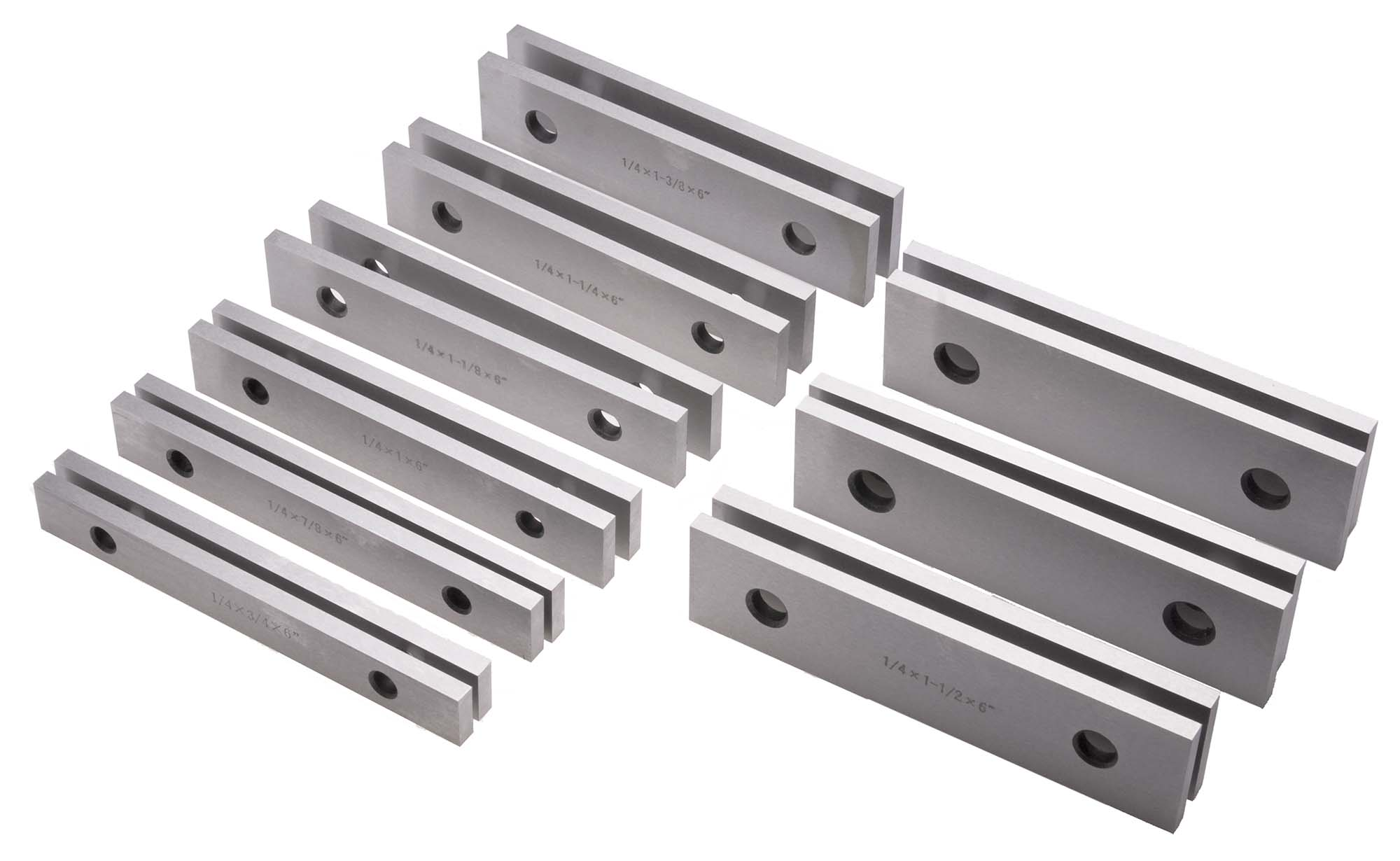"1/4"" Steel Parallel Set- 9 Pair"
