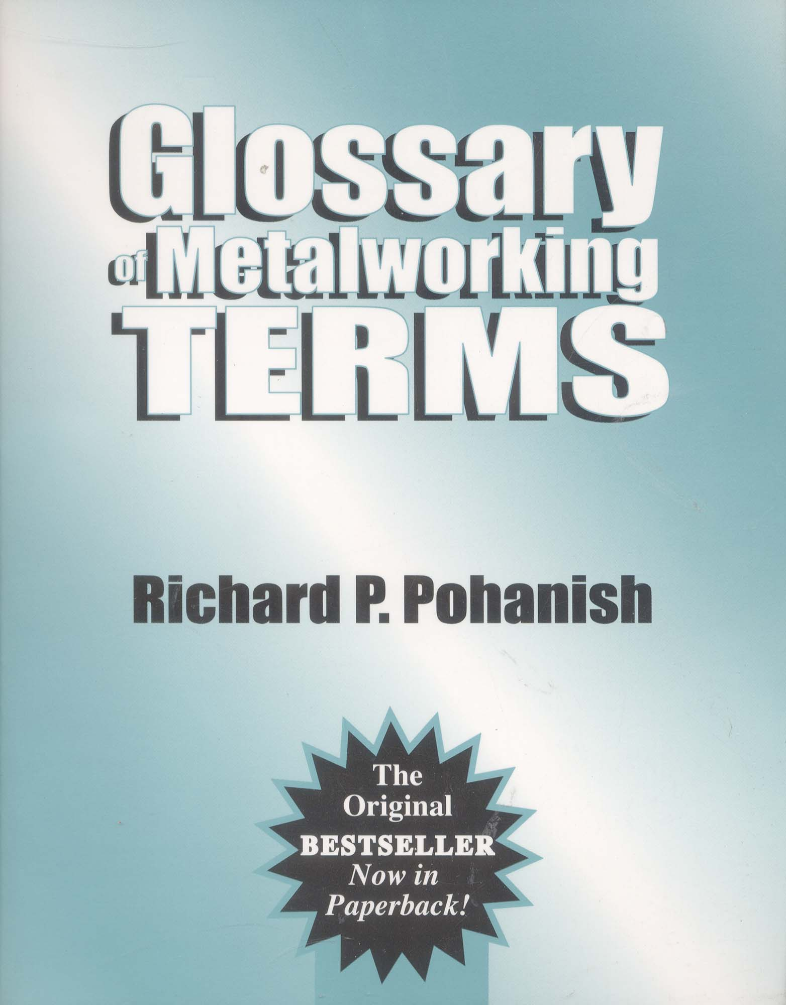 Book-Glossary of Metalworking Terms
