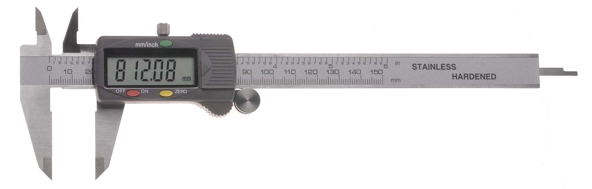 "6"" VME Electronic Caliper - inch and metric reading"