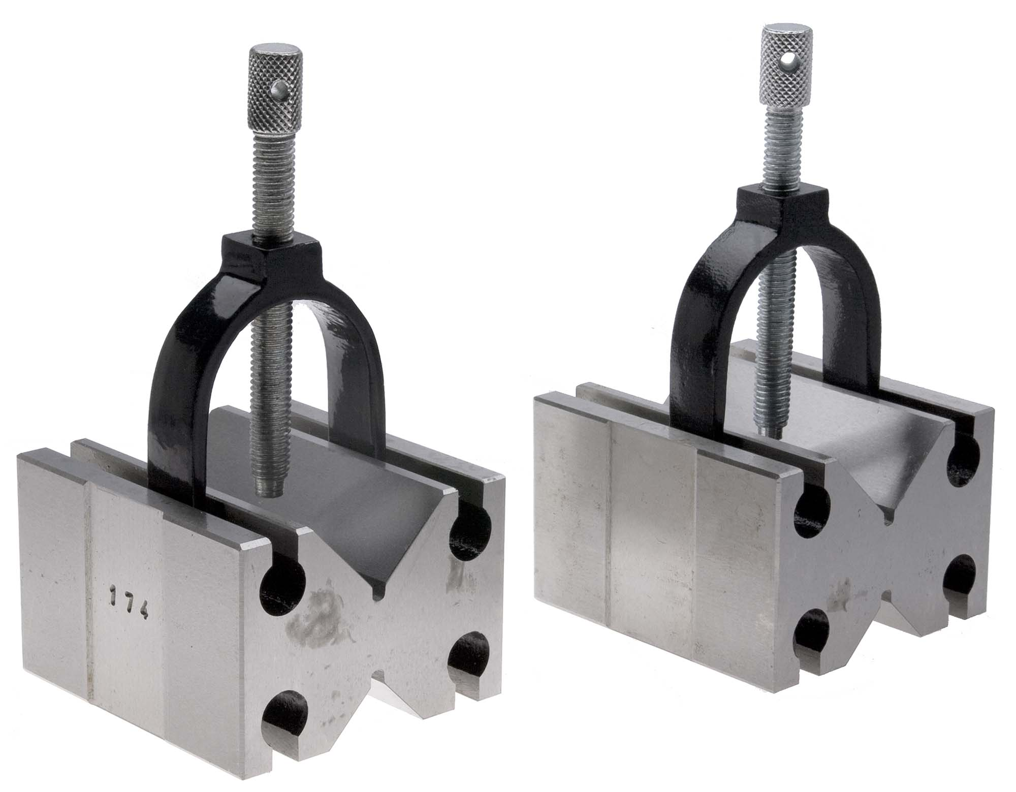 """VB-3  1-1/2"""" Capacity V Block and Clamp Pair"""
