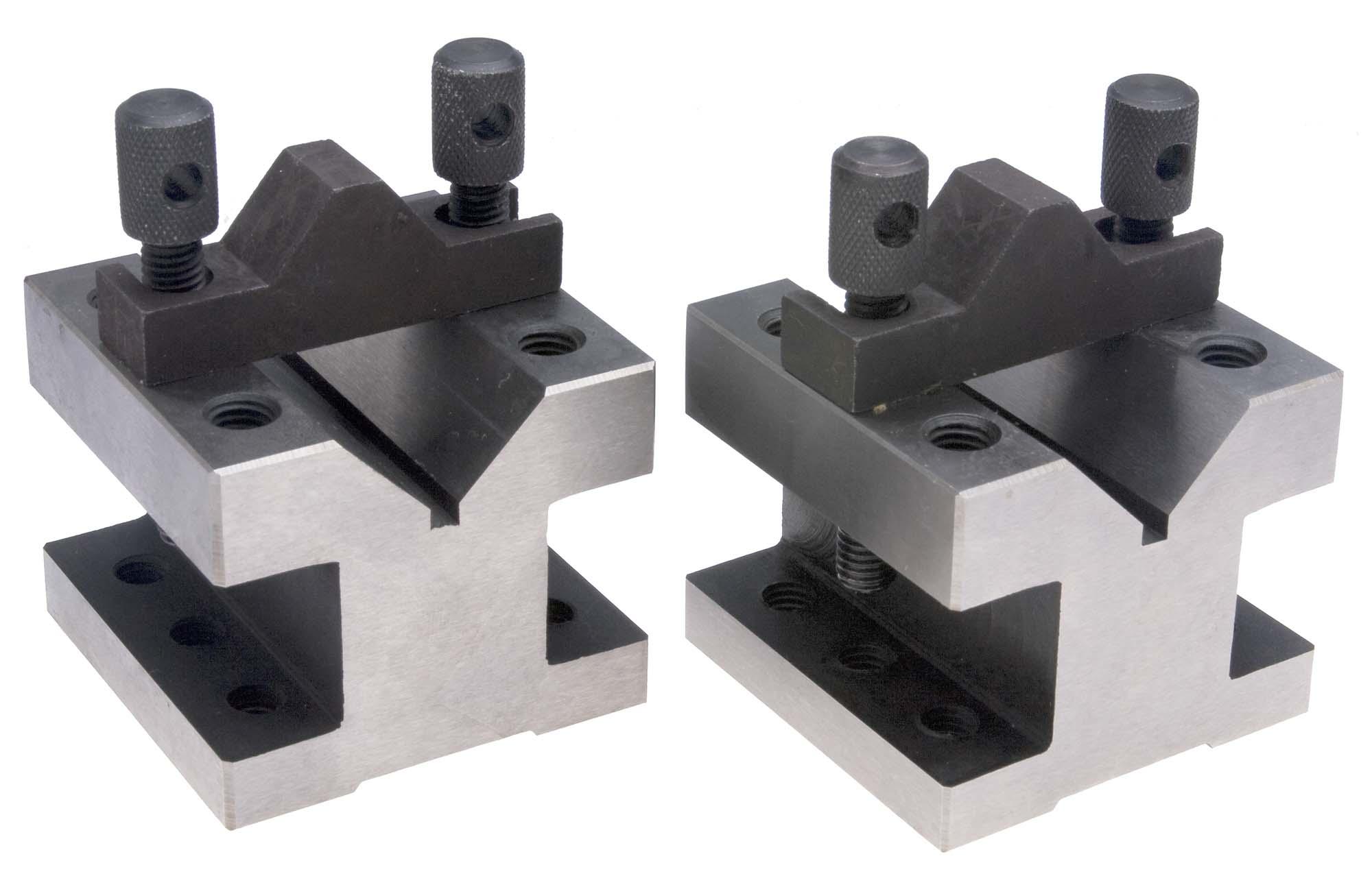 "VB-302  2 3/8"" Square Pair of Precision Vee Blocks, 1-3/16"" capacity"