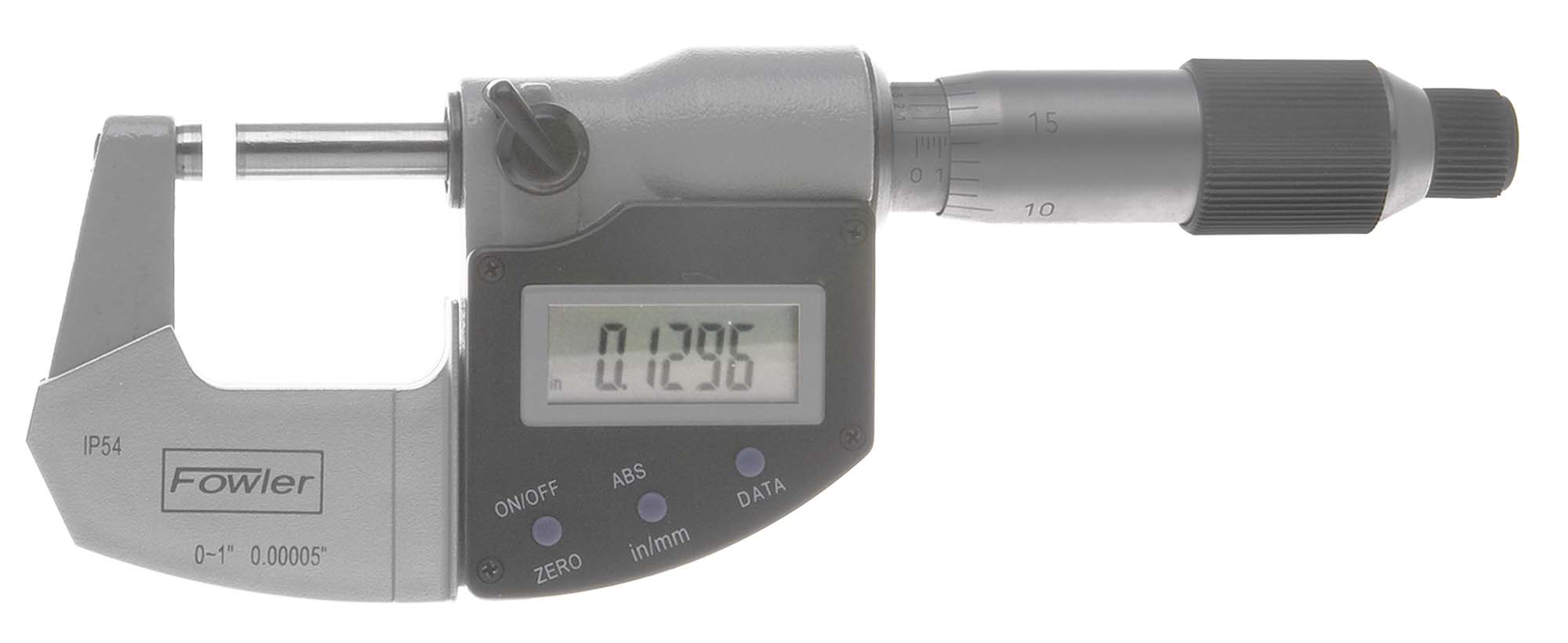 """Fowler 54-815-001 Xtra-Value 0-1""""  Electronic Micrometer - IP54"""