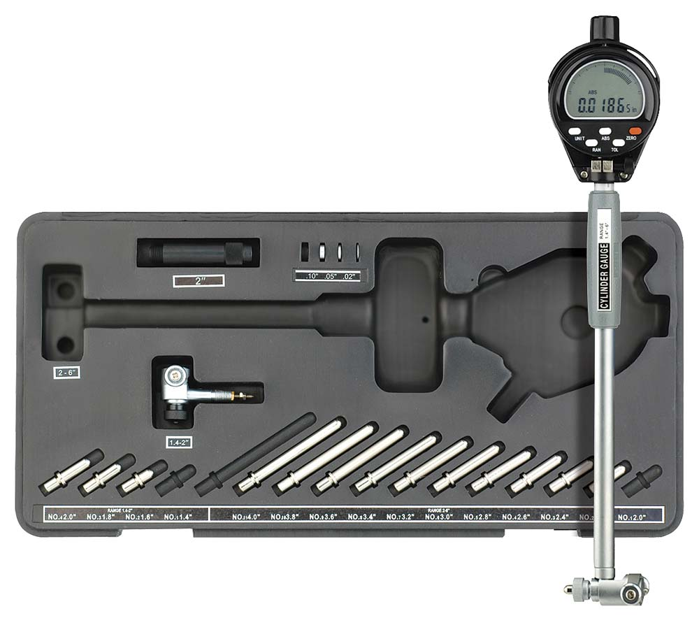 "Fowler 54-585-100 Extender-E 1.4-6"" Electronic Bore Gage Set"