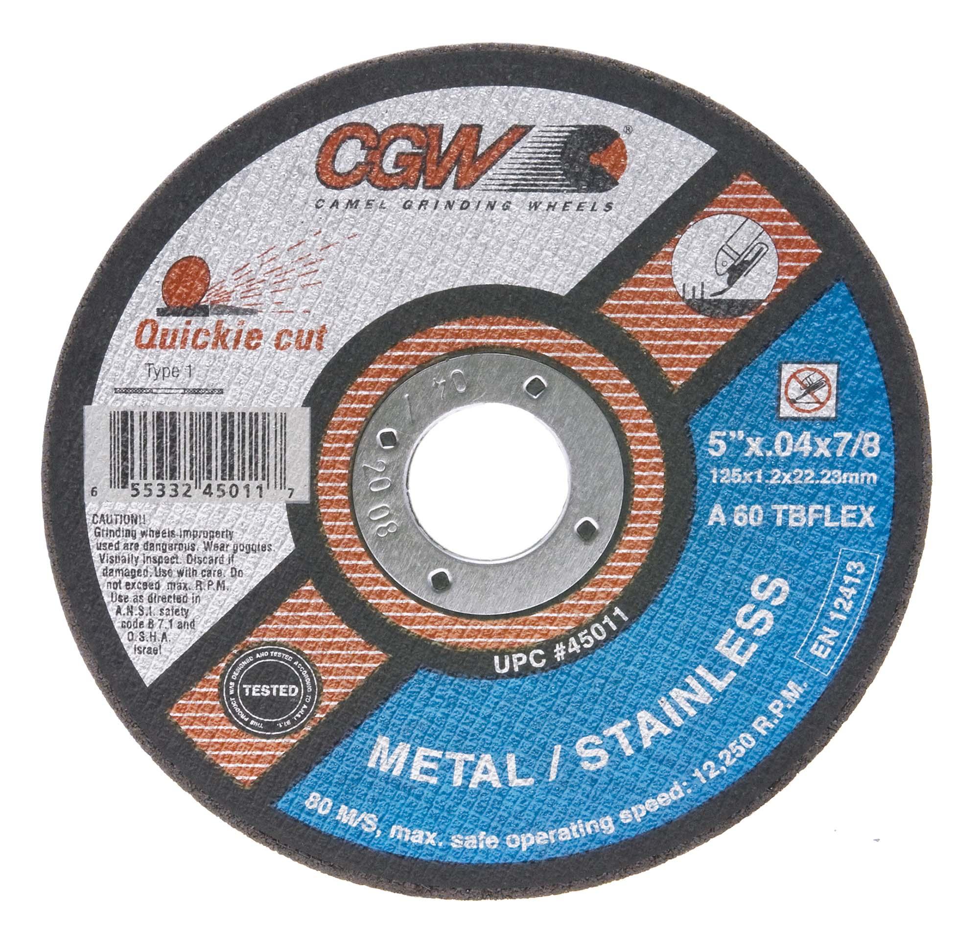 CGW Quickie-Cut Wheel, 5 x .040 x 7/8
