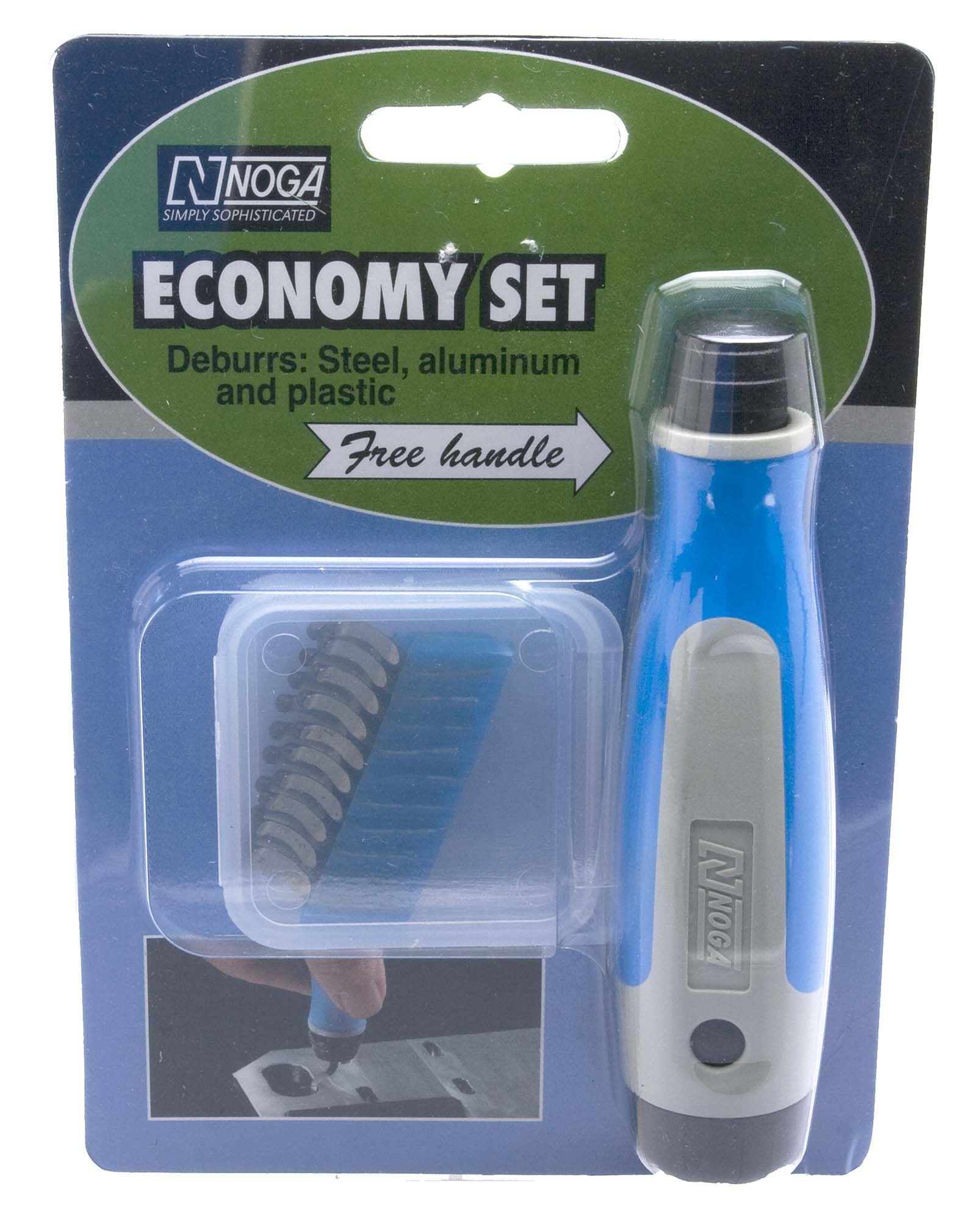 Noga NG8050 Light Duty Deburr Tool, with 20 blades