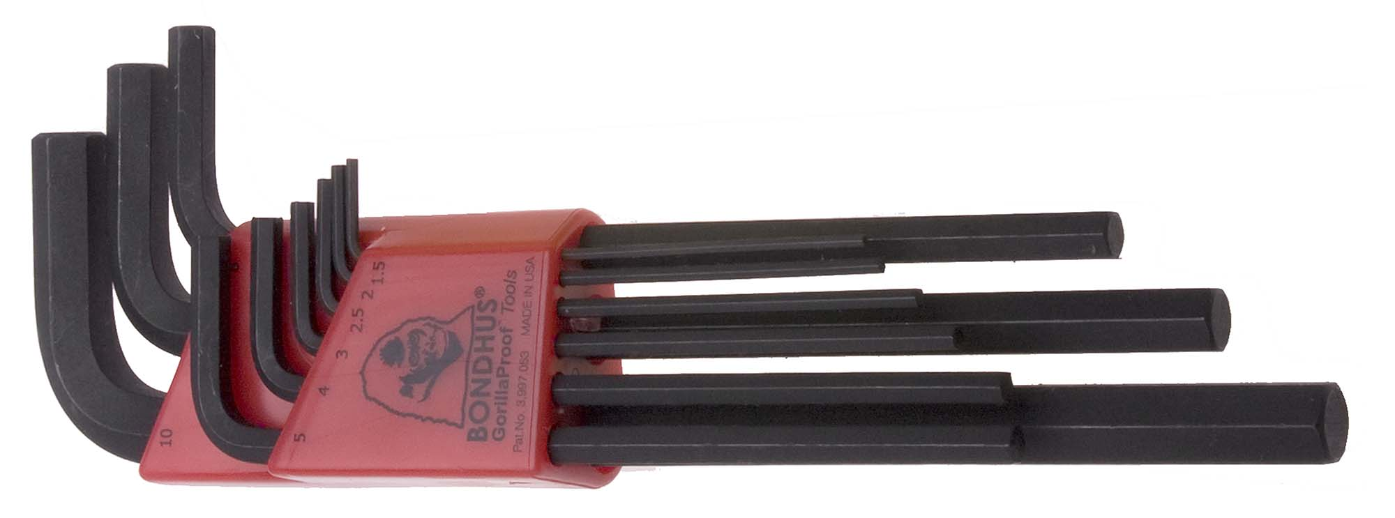 Bondhus 12199 Metric L-Wrenche Hex Key Set 1.5 - 10mm Set of 9