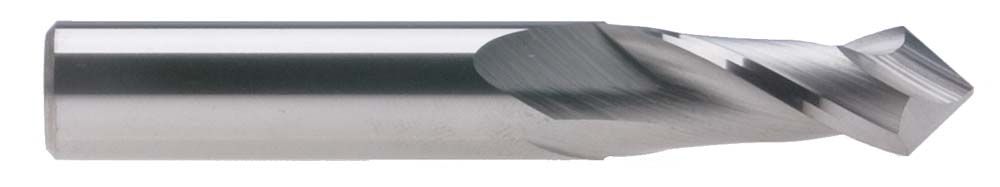 "1/2"" 2 Flute Single End USA Carbide Drill Mill, 90 Degree"