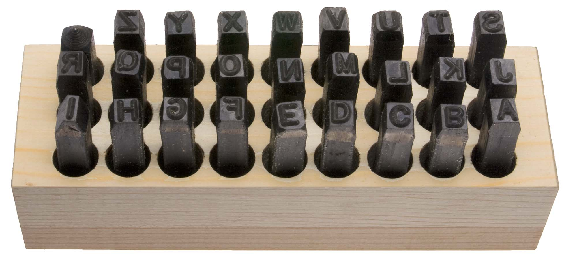"""1/8"""" Young Brothers USA Steel Letter Stamp Set (A-Z)"""