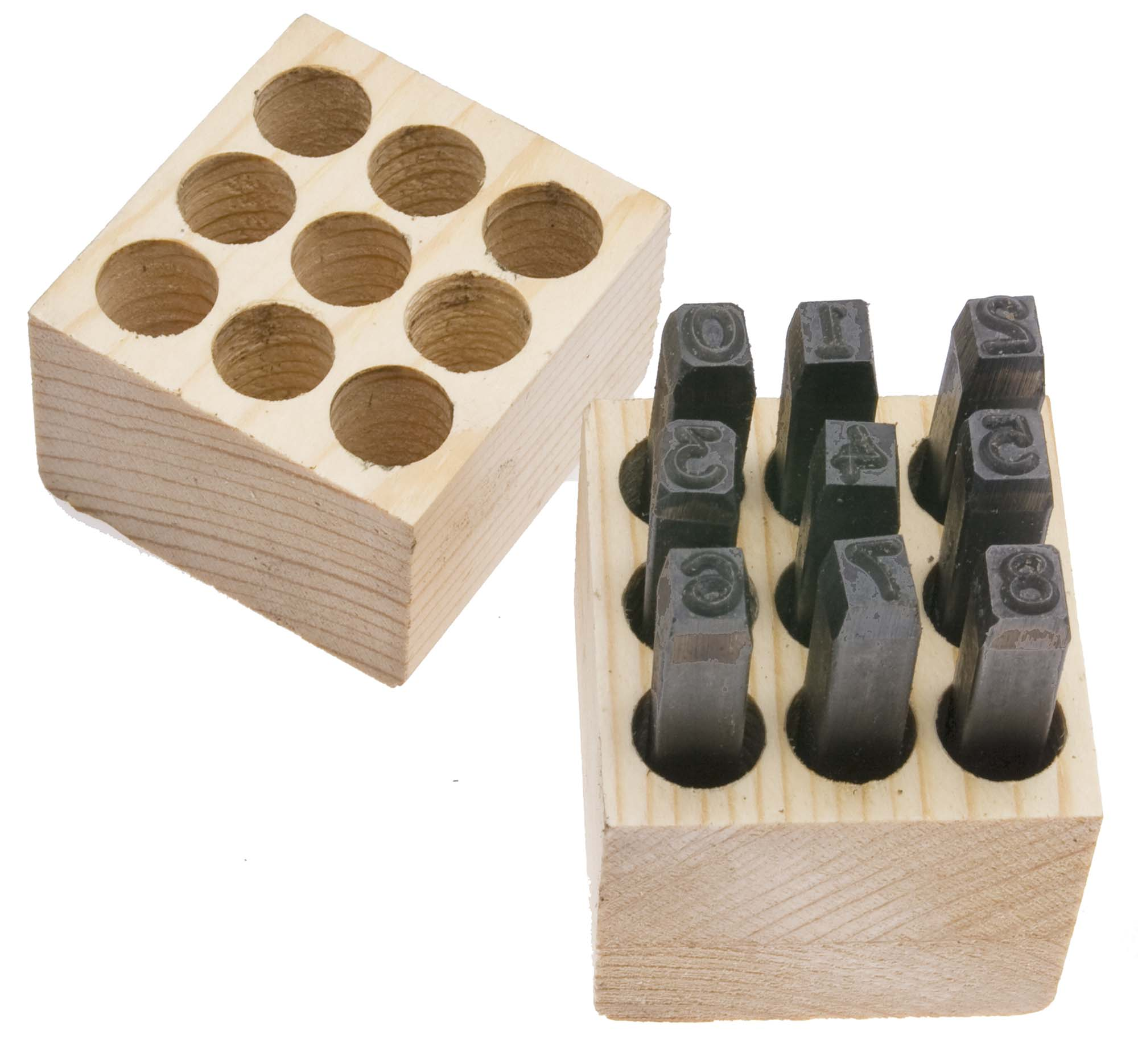 """1/8"""" Young Brothers USA Steel Figure Stamp Set (0-8)"""