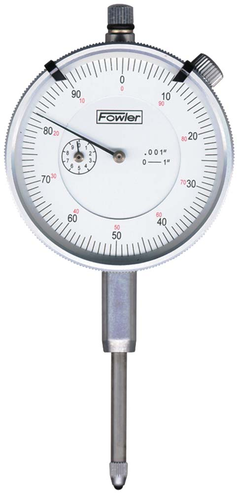 """Fowler 52-520-129, 1""""/.0005"""" White Face Dial Indicator"""