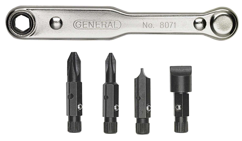 General 8071 5 Piece Ratchet Offset Screwdriver Set