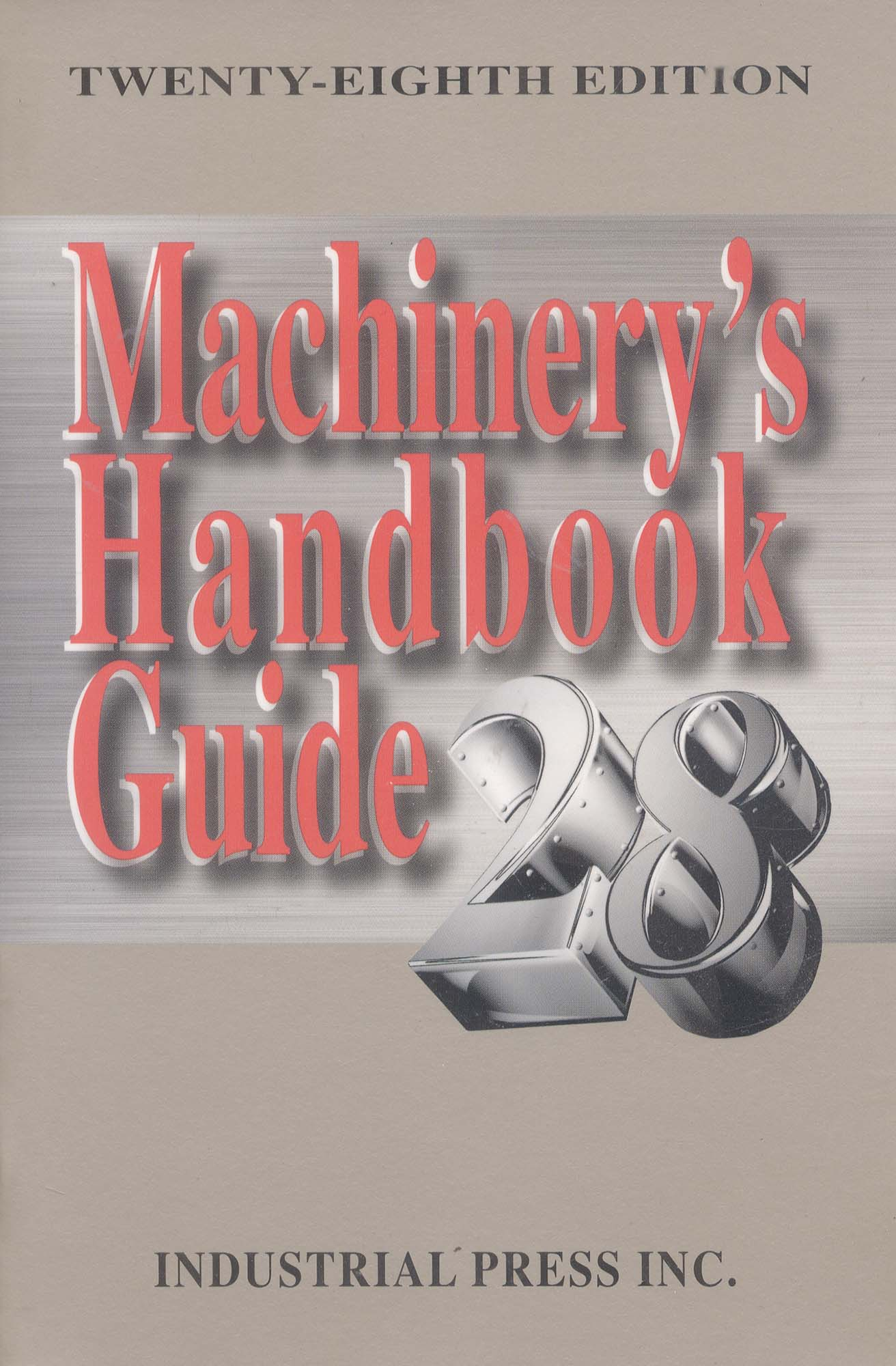 Book-Machinerys Handbook Guide 30th Edition