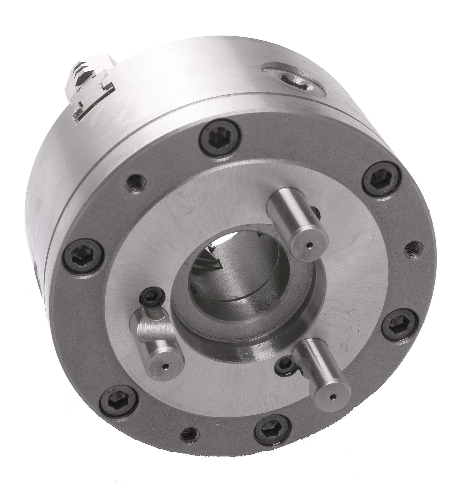 "Bison 7-803-1038 10"" D-1-8 3 Jaw Universal Lathe Chuck with two-piece jaws"