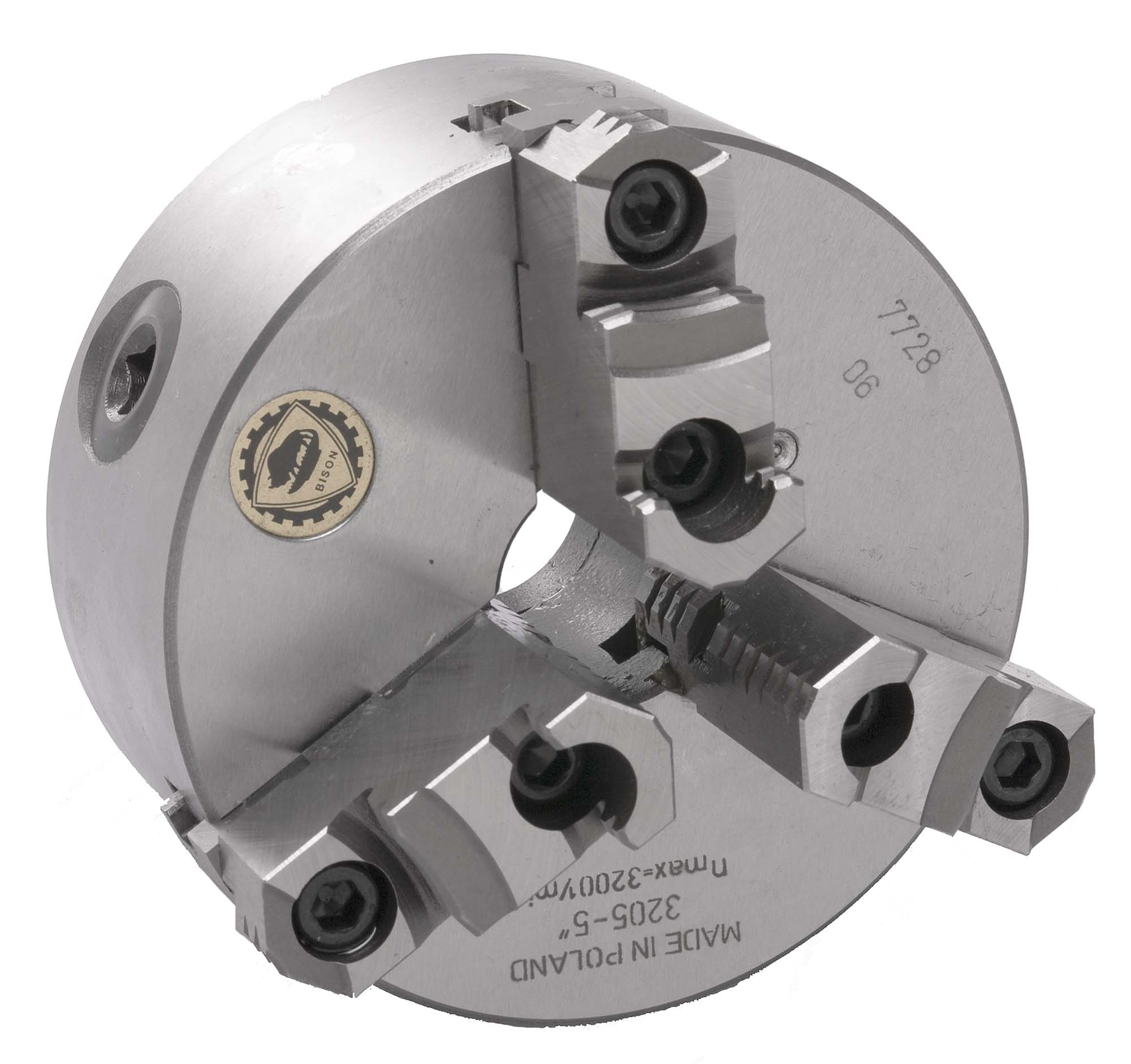 """Bison 7-800-0800 8"""" P290 3 Jaw Universal Lathe Chuck with two-piece jaws"""