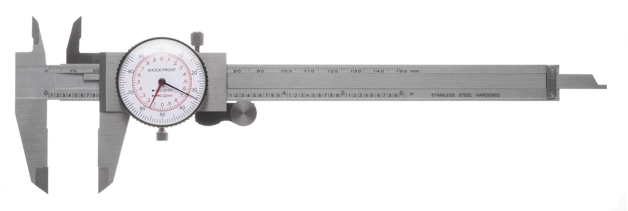 "DCH-6EM  6"" Capacity Inch/MM  Dial Caliper"