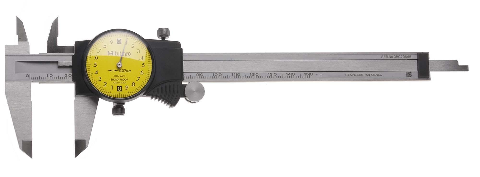 150mm  Mitutoyo 505-671 Dial Caliper