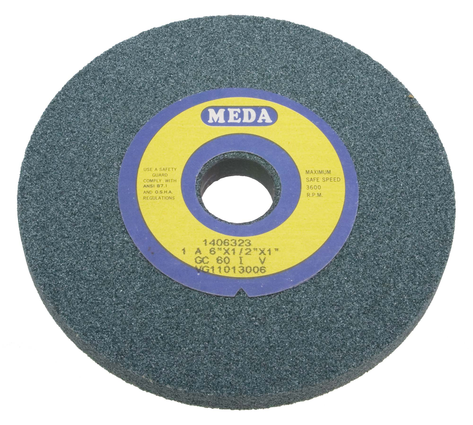 Meda 7 x 1/2 x 1-1/4  Fine 100 Grit Green Wheel
