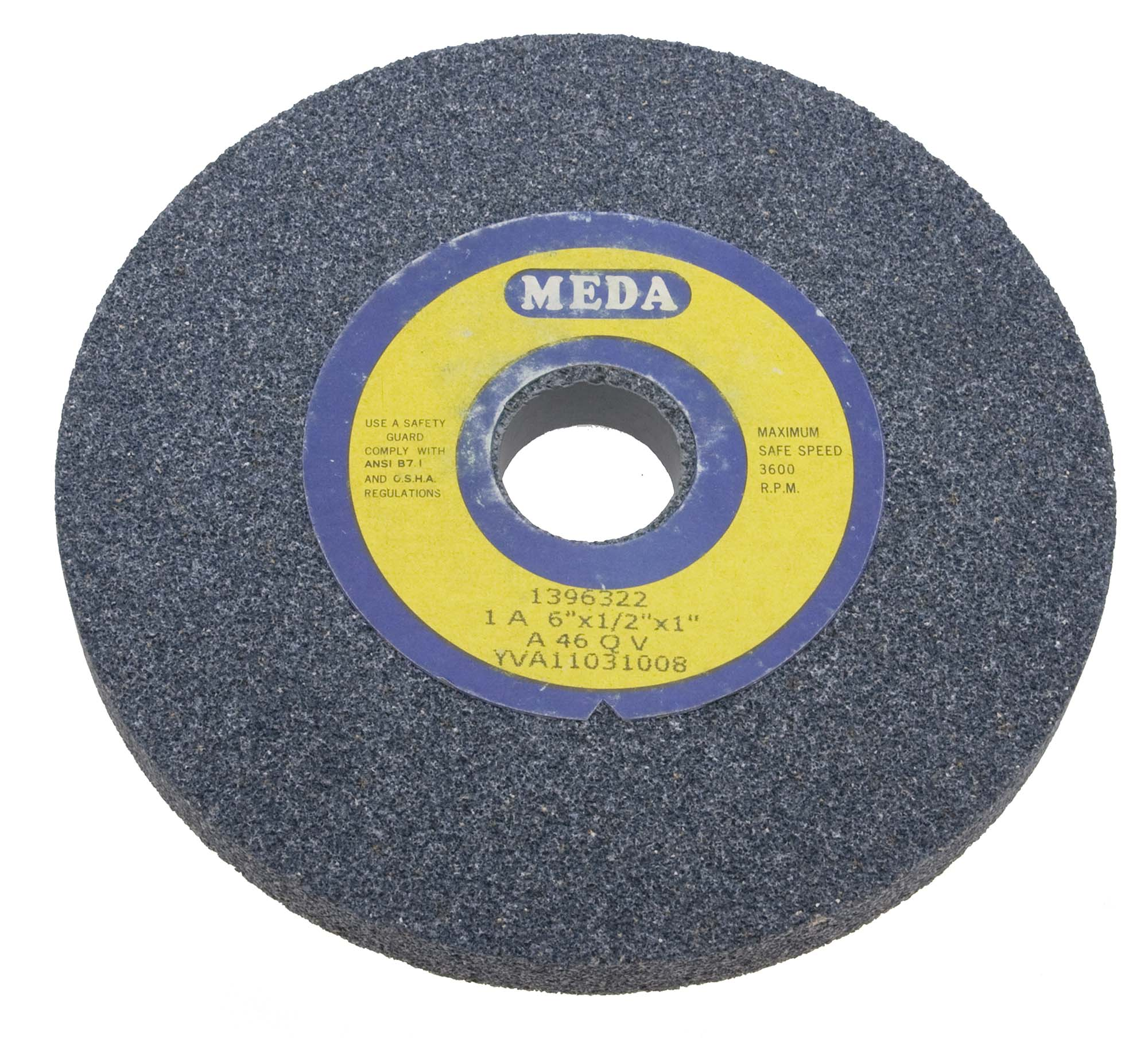 Meda 7 X 1 X 1  Coarse 24 Grit Grey Bench Grinding Wheel