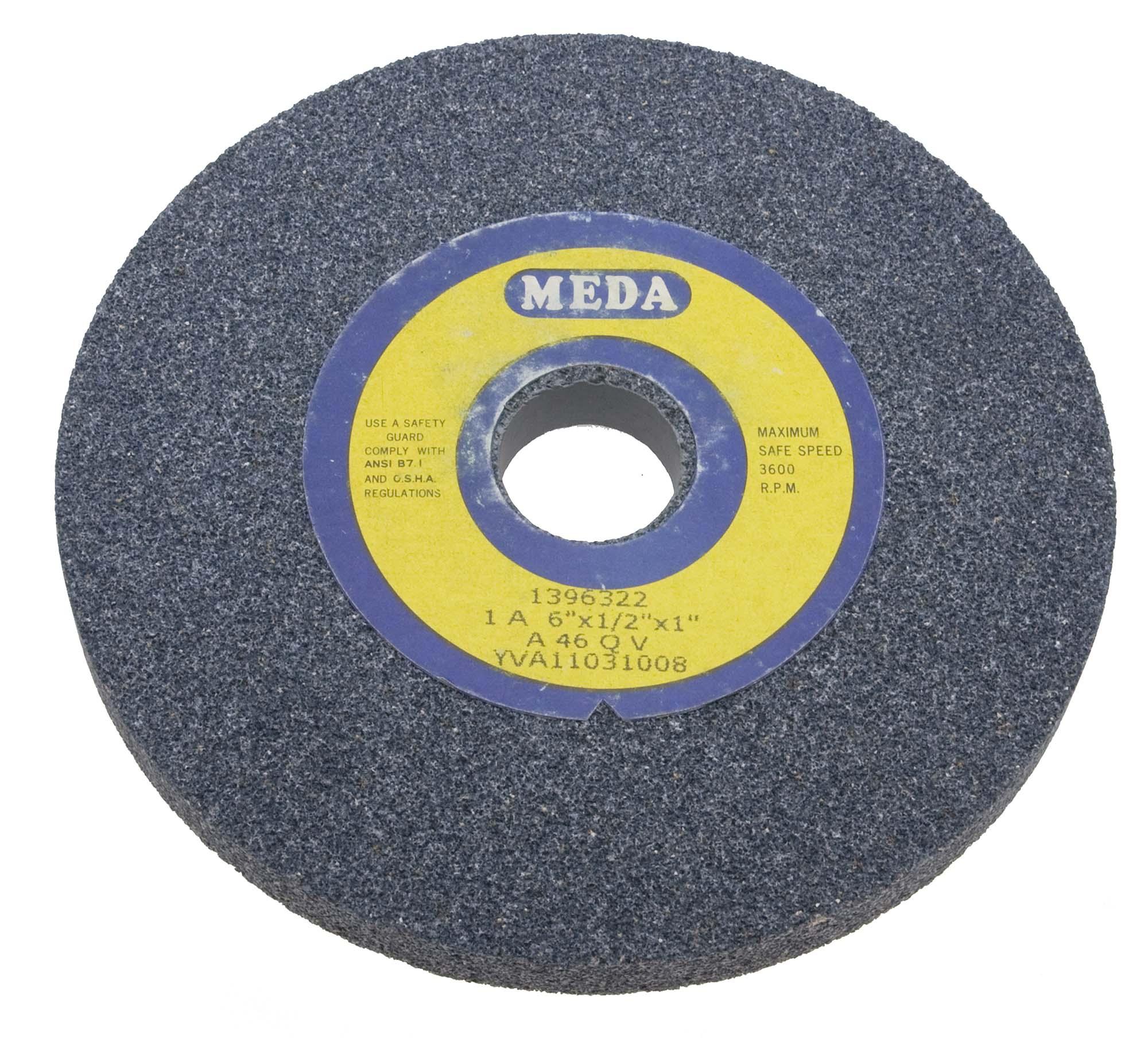 Meda 7 X 1 X 1 Fine 80 Grit Grey Bench Grinding Wheel