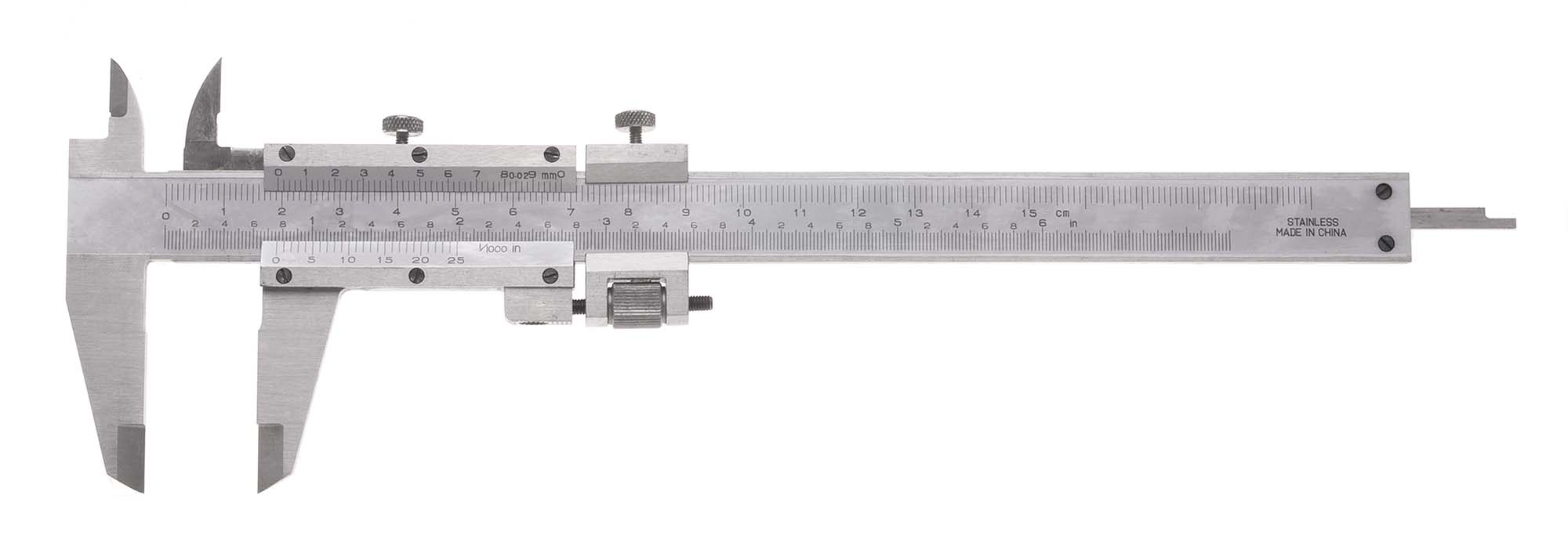"6"" VME Vernier Caliper with Fine Adjustment, .001"", 1/50mm"