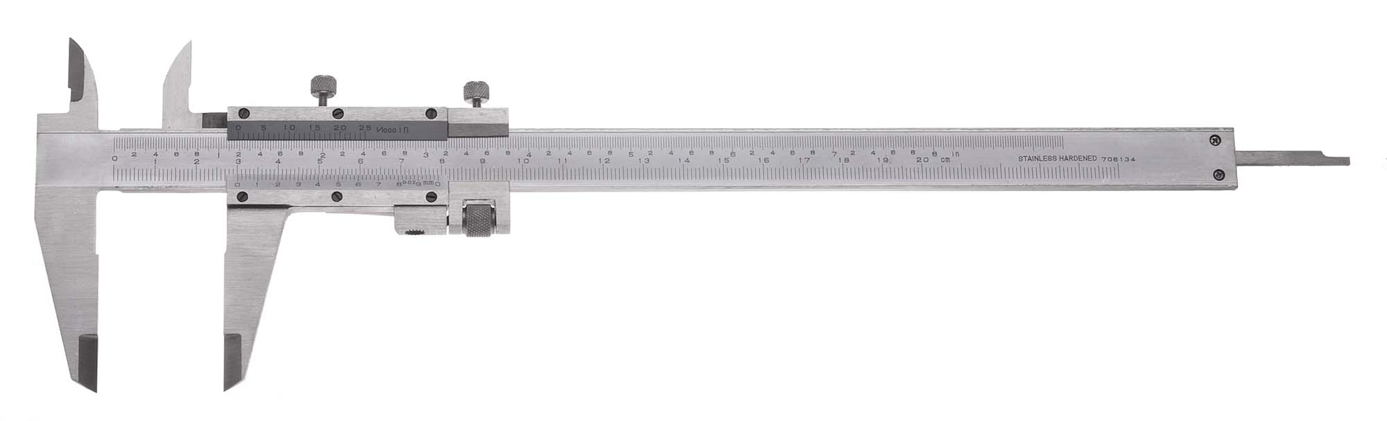 "8"" VME Vernier Caliper with Fine Adjustment, .001"", 1/50mm"