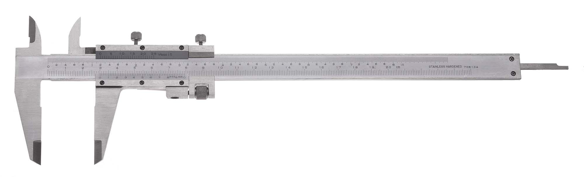 "8"" VME Vernier Caliper with Fine Adjustment, .001"", 1/50mm"