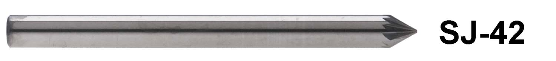 "1/8"" Shank Carbide Burr. SJ-42. 60 Degree Taper. 1/8"" head diameter"