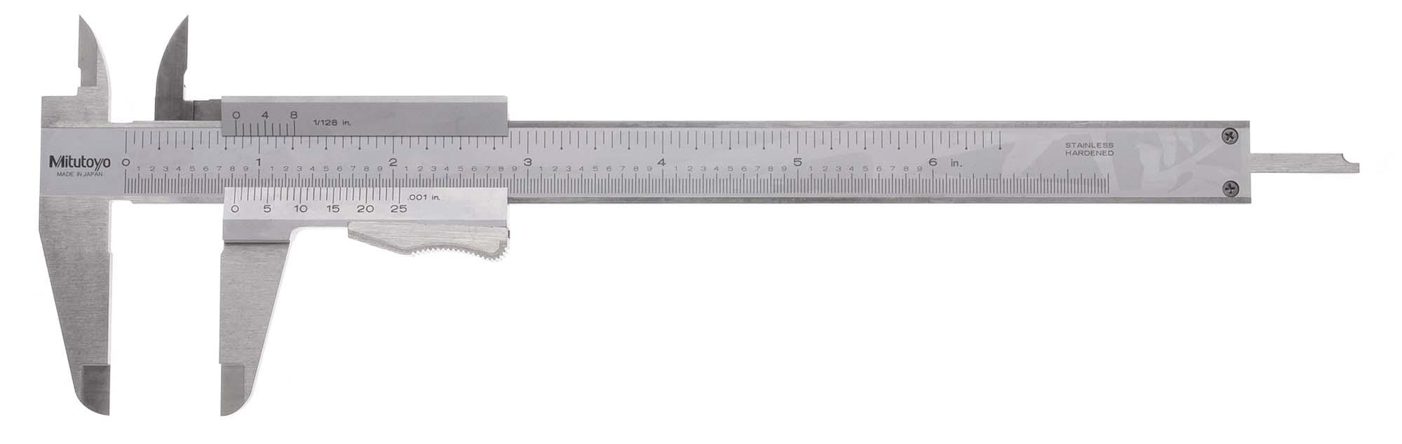 "8"" Mitutoyo 531-114 Vernier Caliper with Thumblock, .001"", 1/128"" (LIMITED QUANTITY)"