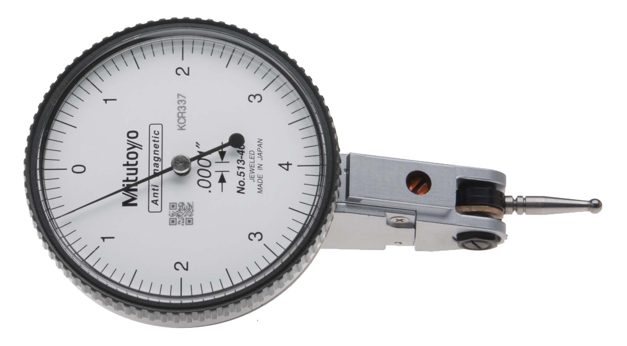 "Mitutoyo 513-403 .0001"" Dial Test Indicator w/ACC-IH22 quill holder"