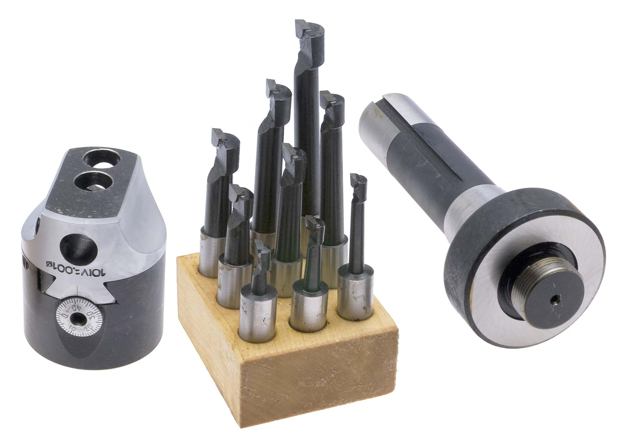 "BHS-32  Boring Head Set, 3"" Head plus 3/4"" Straight Shank and 3/4"" Carbide Tip Boring Bar Set"
