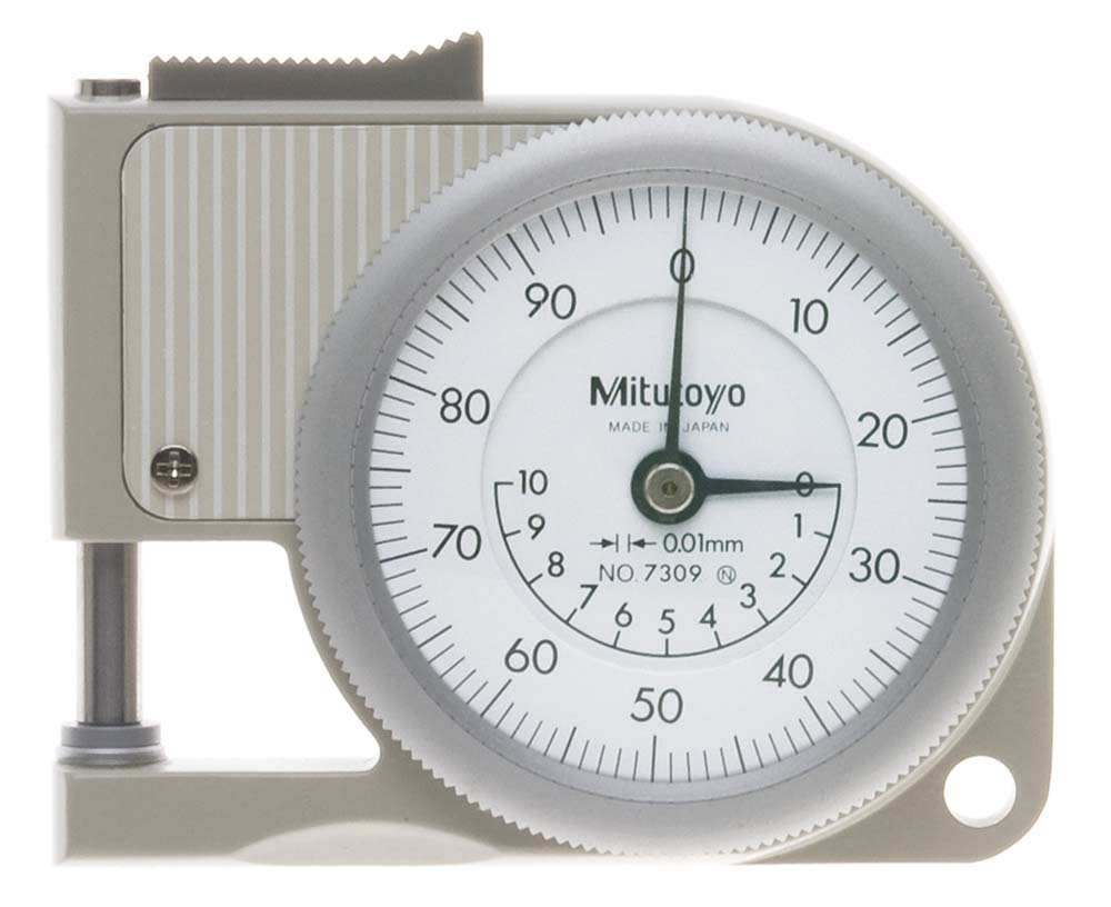 9mm Mitutoyo 7309 Pocket Thickness Gage, reads .01mm