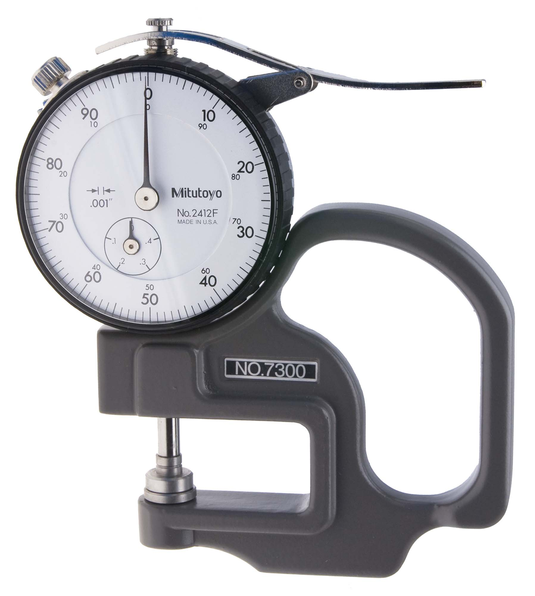 ".400"" Mitutoyo 7300 Dial Thickness Gage"