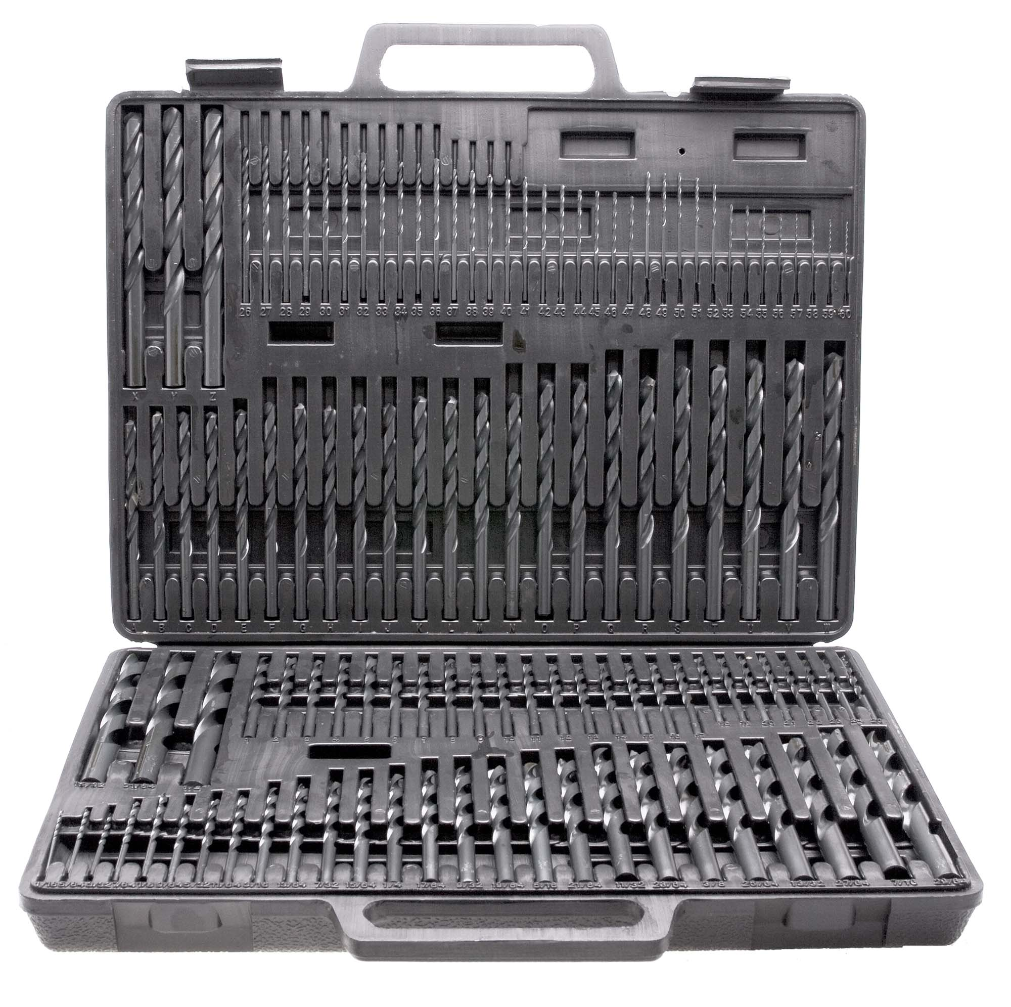"1/16-1/2"" by 64th, A-Z, 1-60 Maintenance Quality 3 in 1 Combo Jobber Length Drill Set, High Speed Steel , 115 bits"