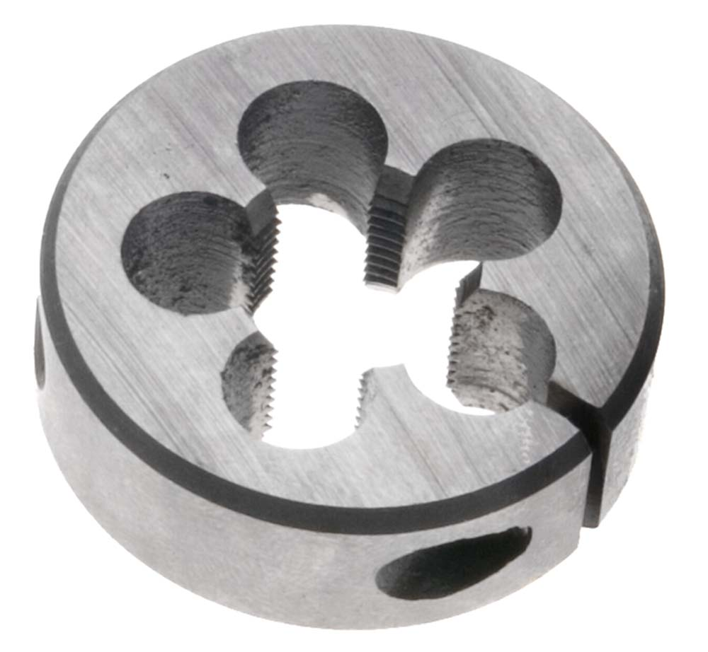 "10mm x 1.0  LEFT HAND Round Die, 1"" Outside Diameter - High Speed Steel"