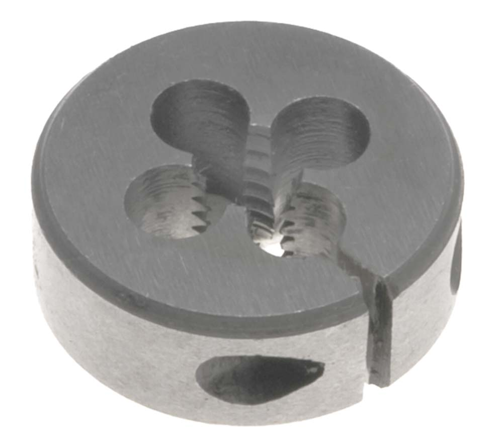 "#4- 40  Round Adjustable Die, 1"" Outside Diameter - High Speed Steel"
