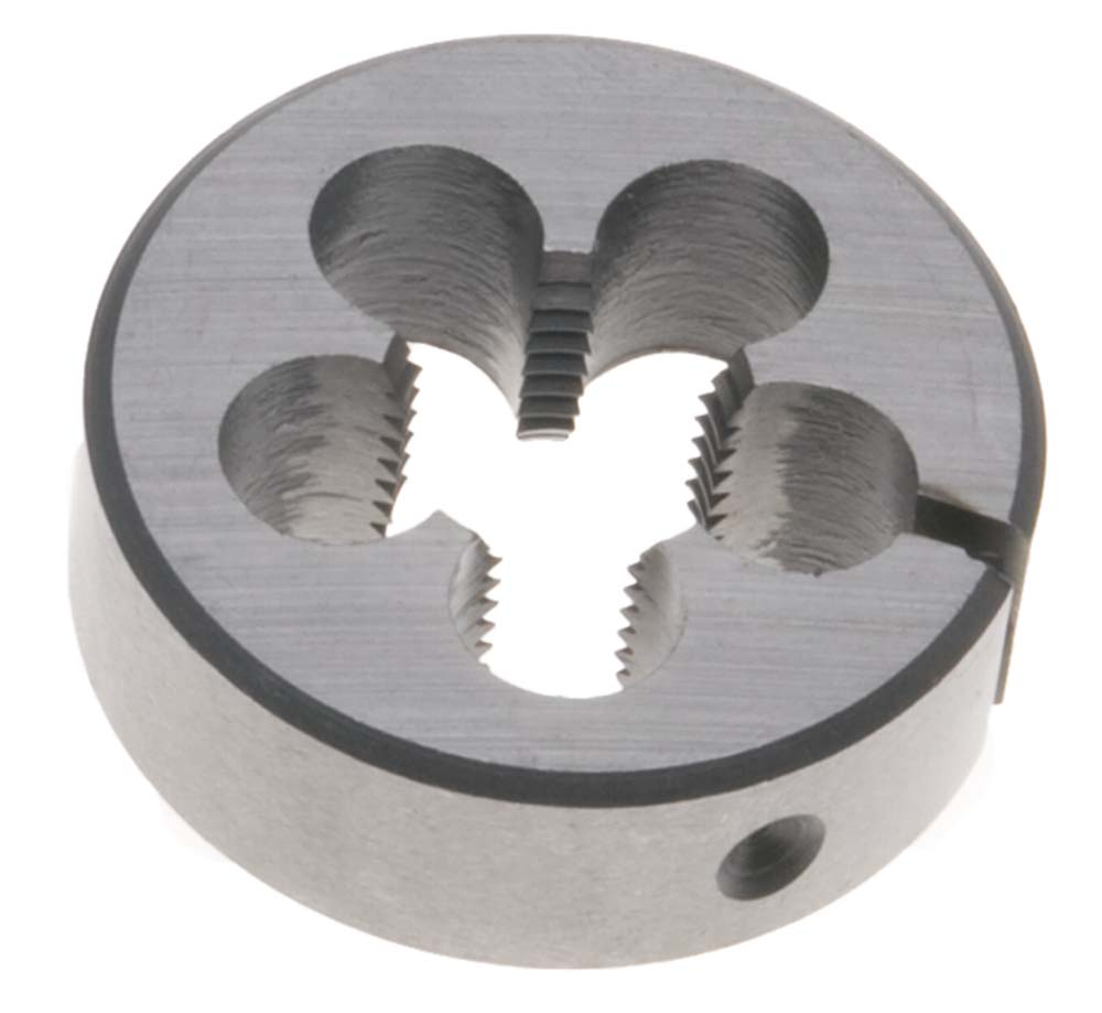 "3/8""-24 LEFT HAND Round Die, 1"" Outside Diameter - High Speed Steel"